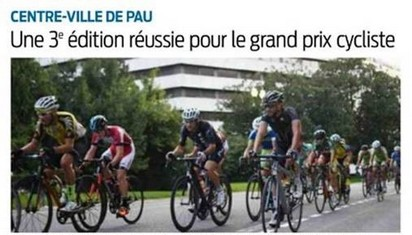 photo 2 course grand prix cycliste pau 2017 au palais beaumont