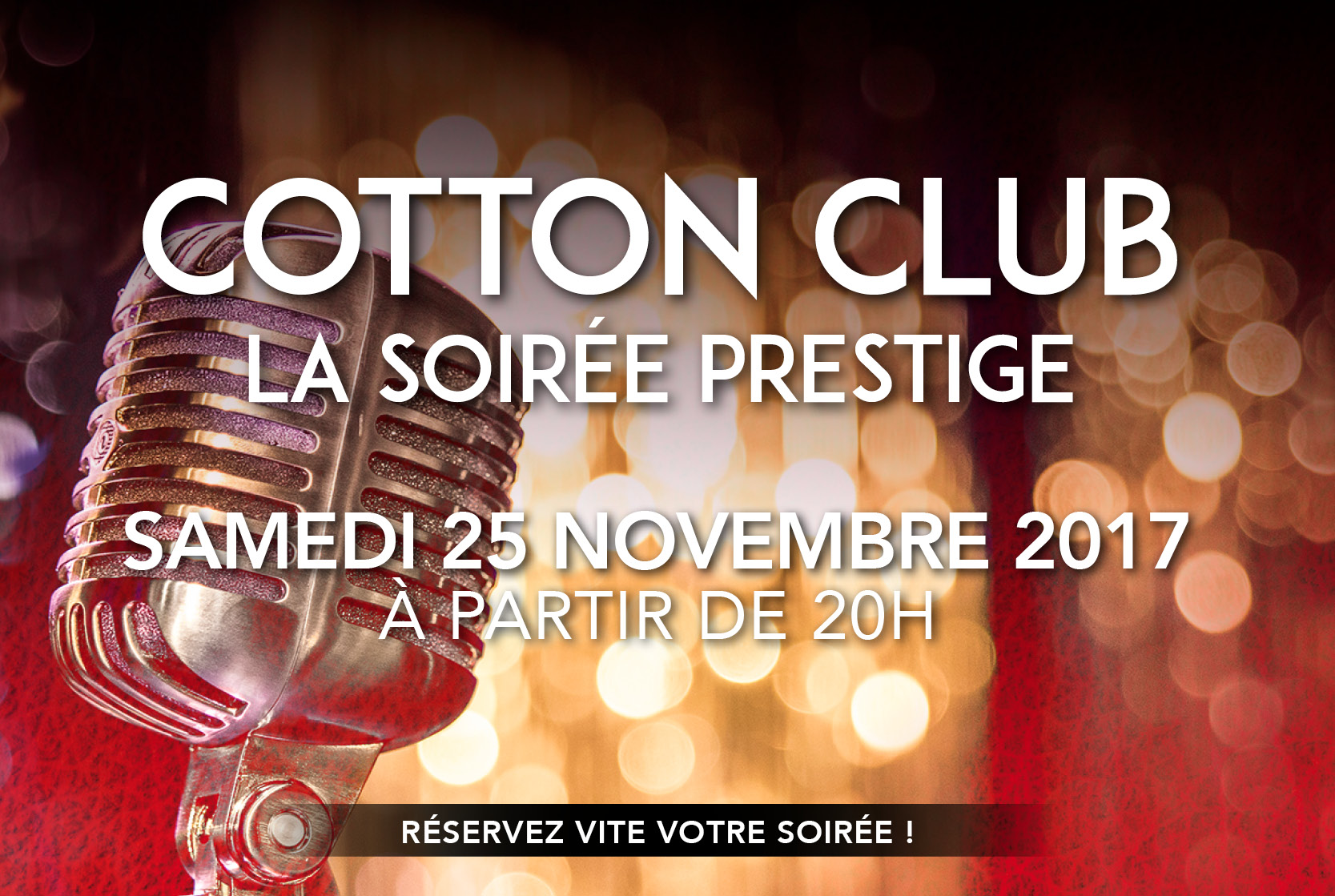 Soirée Prestige Jazz Cotton Club au Palais Beaumont