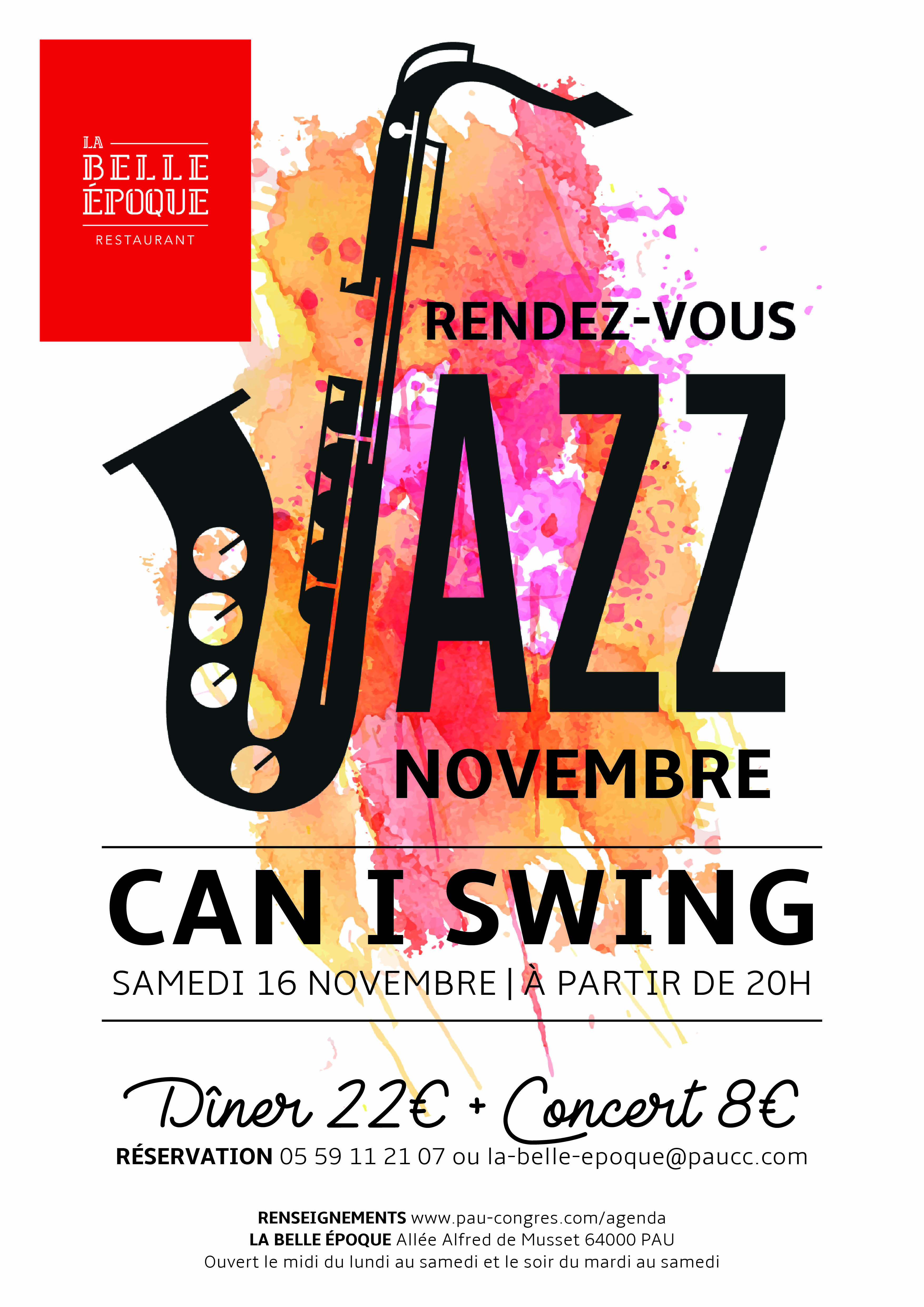 RDV Jazz Nov - Affiche Can I Swing